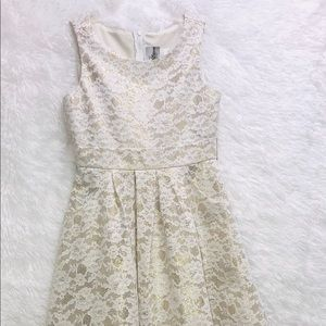 Girls Formal Lace and Mesh Dress